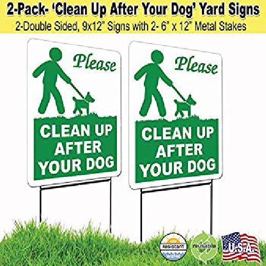 how to stop neighbors dog pooping in my yard